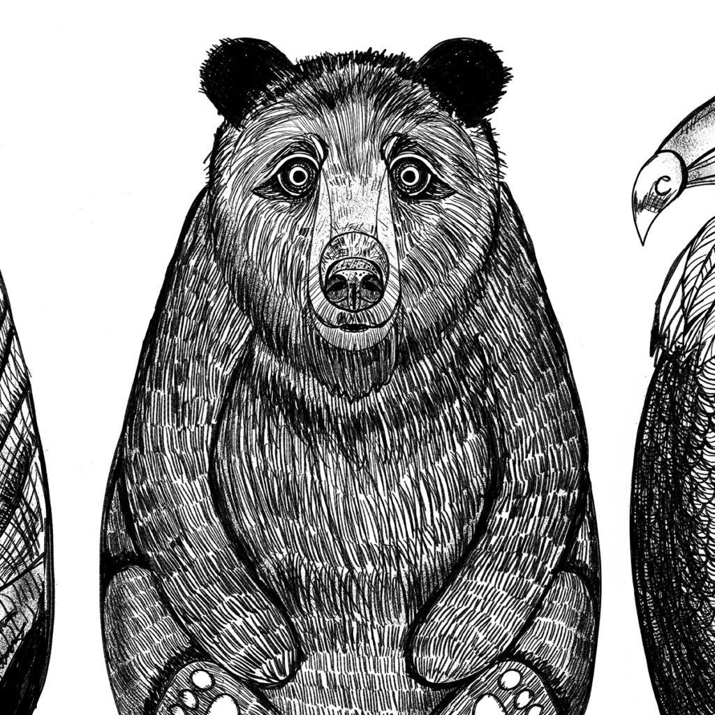 Inky Animals